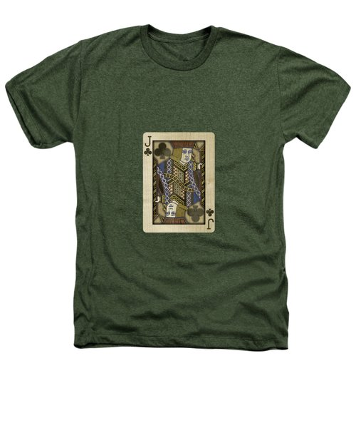 Jack Of Clubs In Wood Heathers T-Shirt