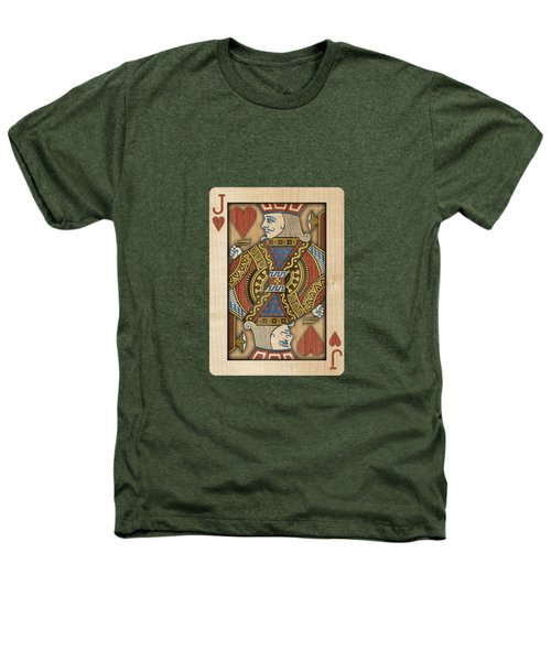 Jack Of Hearts In Wood Heathers T-Shirt