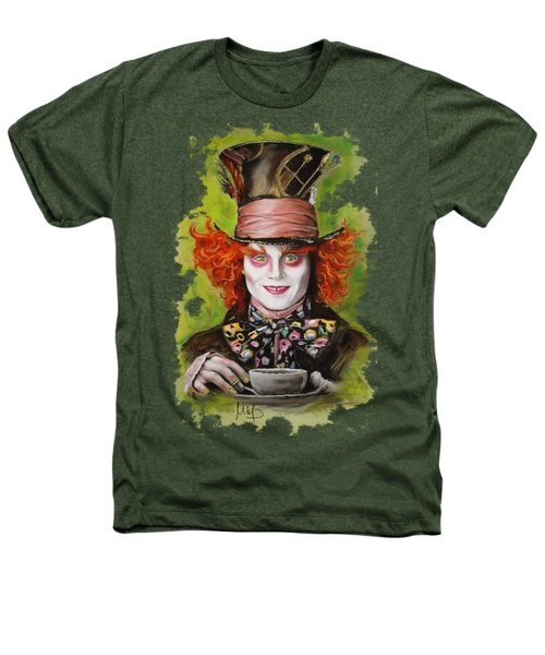 Johnny Depp As Mad Hatter Heathers T-Shirt by Melanie D
