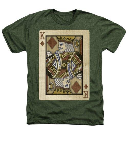 King Of Diamonds In Wood Heathers T-Shirt
