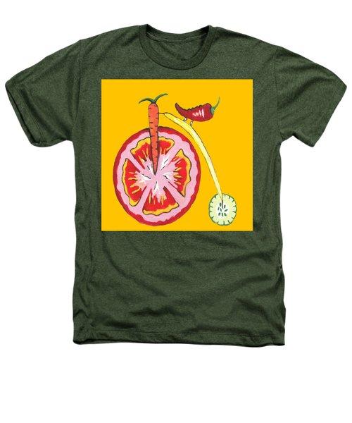 Kitchen Vegetable Art Heathers T-Shirt by Kathleen Sartoris