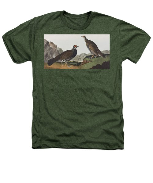 Long-tailed Or Dusky Grous Heathers T-Shirt by John James Audubon