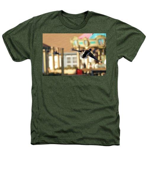 Mallard Duck And Carousel Heathers T-Shirt by Geraldine Scull