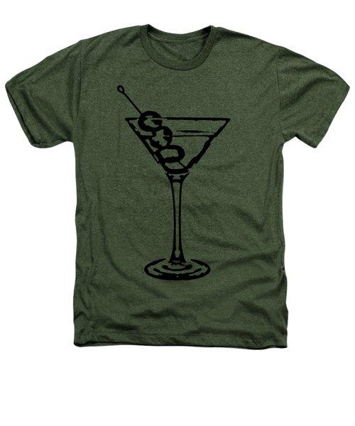 Martini Glass Tee Heathers T-Shirt by Edward Fielding