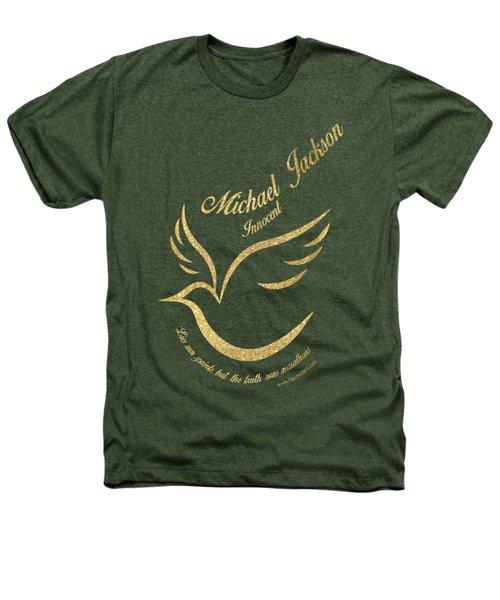 Michael Jackson Golden Dove Heathers T-Shirt by D Francis