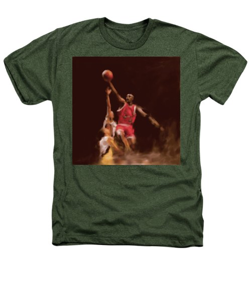 Michael Jordan 548 2 Heathers T-Shirt by Mawra Tahreem
