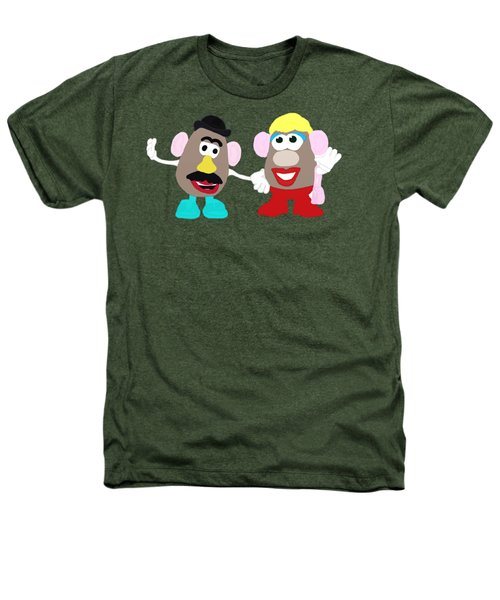 Mr. And Mrs. Potato Head Heathers T-Shirt by Priscilla Wolfe