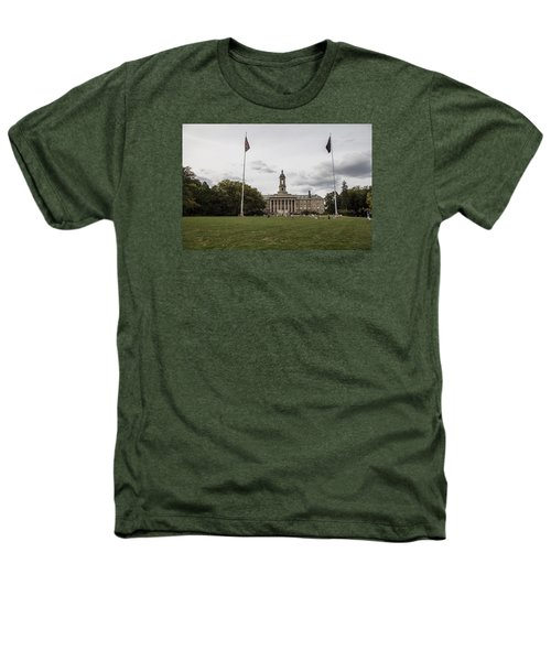 Old Main Penn State Wide Shot  Heathers T-Shirt by John McGraw