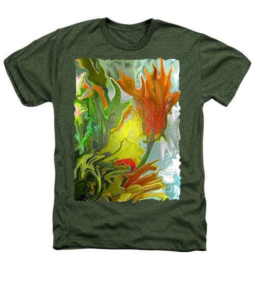 Orange Tulip Heathers T-Shirt by Kathy Moll