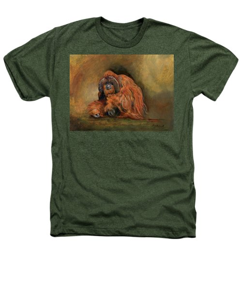 Orangutan Monkey Heathers T-Shirt