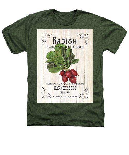 Organic Seed Packet 3 Heathers T-Shirt by Debbie DeWitt