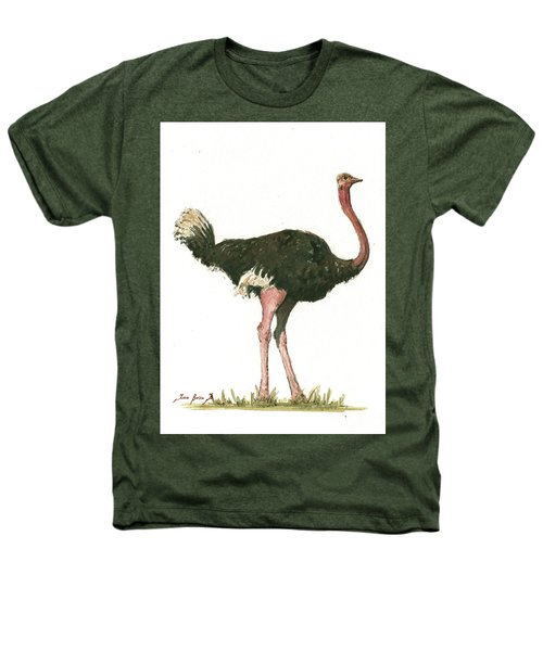 Ostrich Bird Heathers T-Shirt