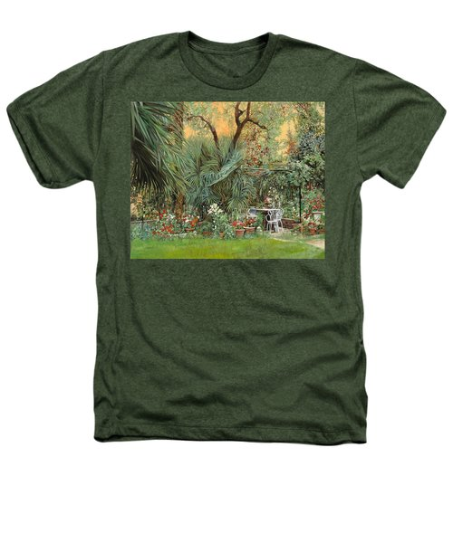 Our Little Garden Heathers T-Shirt by Guido Borelli