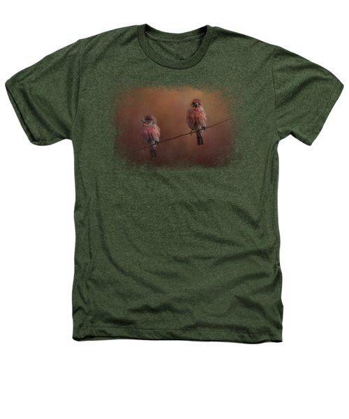 Pair Of Finches Heathers T-Shirt by Jai Johnson
