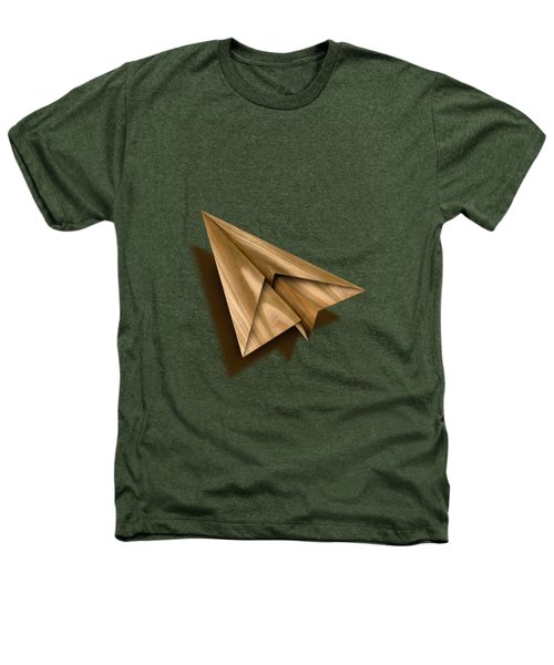 Paper Airplanes Of Wood 1 Heathers T-Shirt by YoPedro