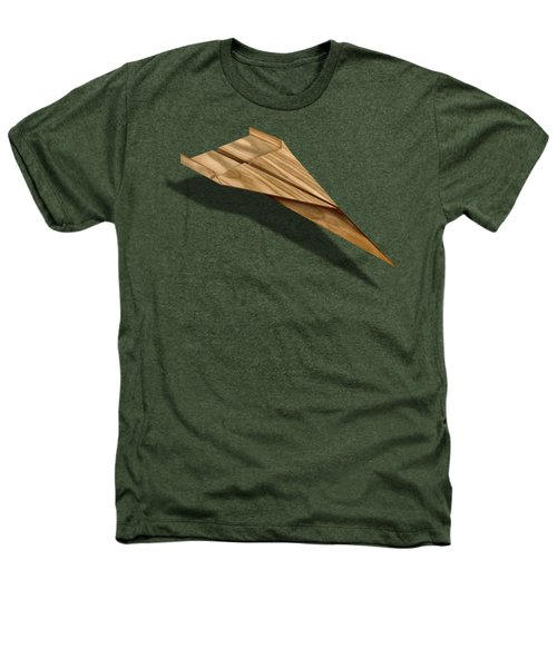 Paper Airplanes Of Wood 3 Heathers T-Shirt by YoPedro