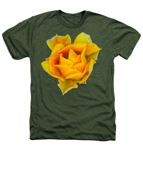 Prickly Pear Flower H11 Heathers T-Shirt by Mark Myhaver