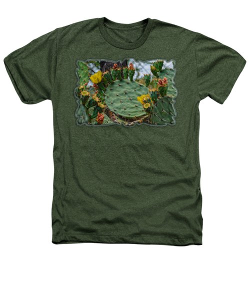 Prickly Pear Flowers H35 Heathers T-Shirt
