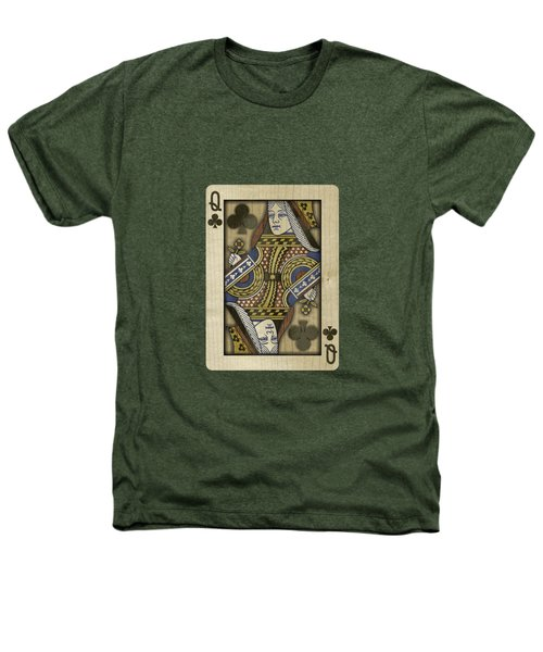 Queen Of Clubs In Wood Heathers T-Shirt