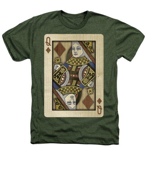 Queen Of Diamonds In Wood Heathers T-Shirt