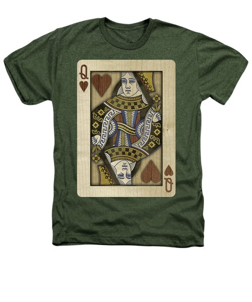 Queen Of Hearts In Wood Heathers T-Shirt