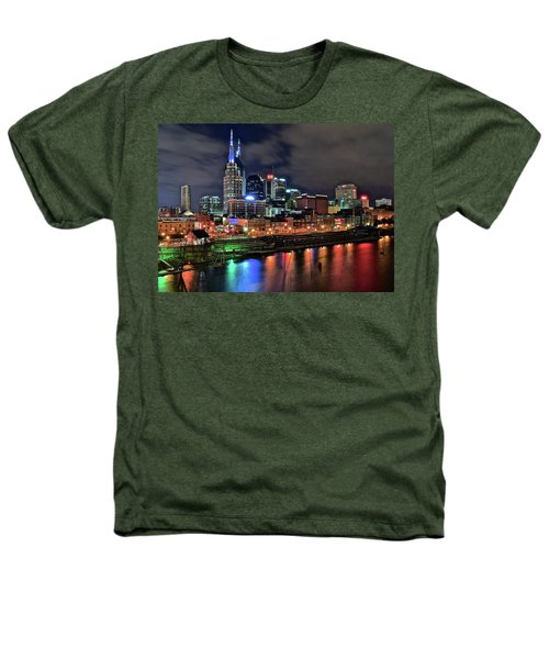 Rainbow On The River Heathers T-Shirt by Frozen in Time Fine Art Photography