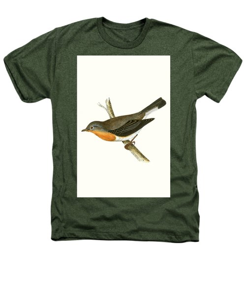 Red Breasted Flycatcher Heathers T-Shirt