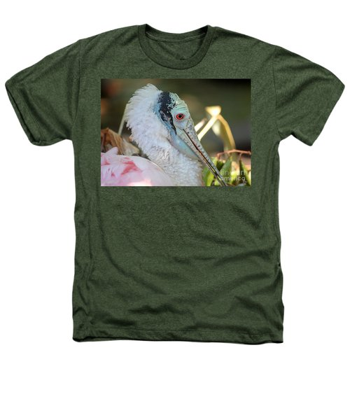 Roseate Spoonbill Profile Heathers T-Shirt by Carol Groenen