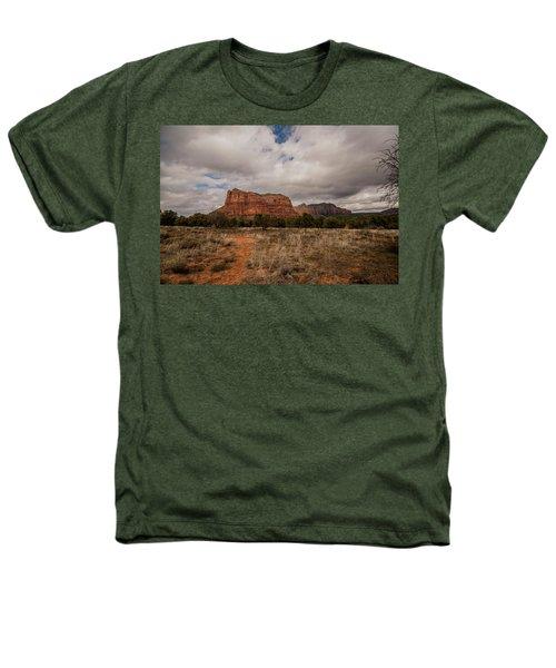 Sedona National Park Arizona Red Rock 2 Heathers T-Shirt by David Haskett