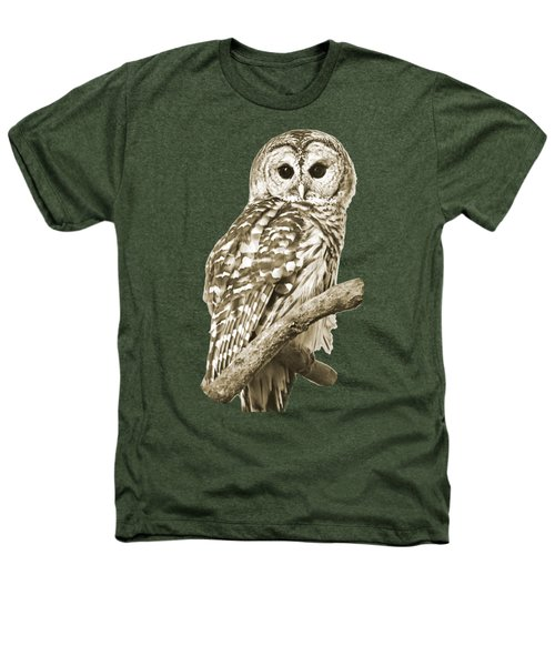 Sepia Owl Heathers T-Shirt by Christina Rollo