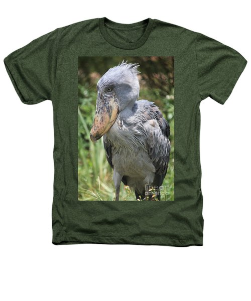 Shoebill Stork Heathers T-Shirt by Carol Groenen