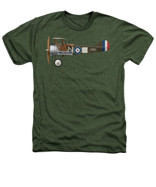 Sopwith Camel - B6313 March 1918 - Side Profile View Heathers T-Shirt by Ed Jackson