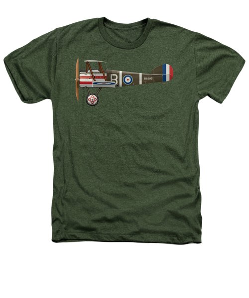 Sopwith Camel - B6299 - Side Profile View Heathers T-Shirt by Ed Jackson
