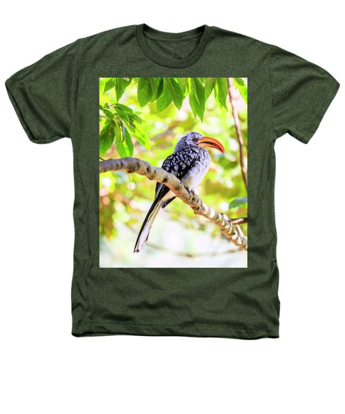 Southern Yellow Billed Hornbill Heathers T-Shirt by Alexey Stiop