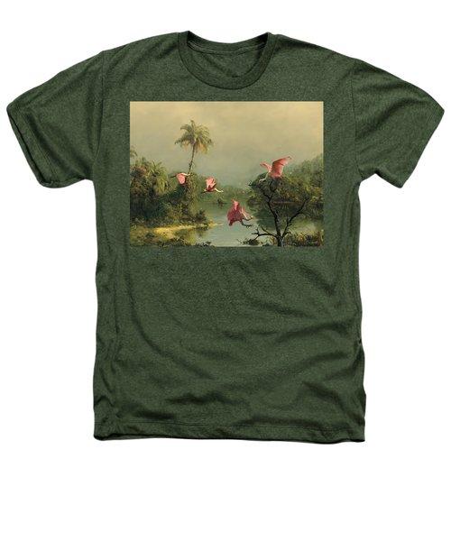 Spoonbills In The Mist Heathers T-Shirt