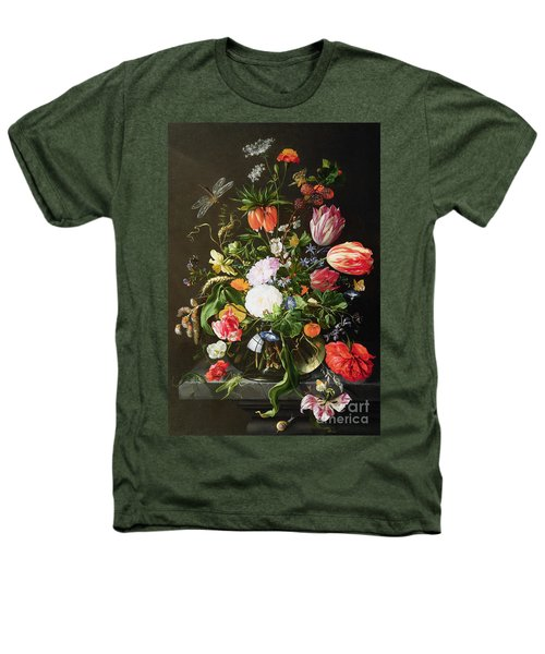 Still Life Of Flowers Heathers T-Shirt by Jan Davidsz de Heem
