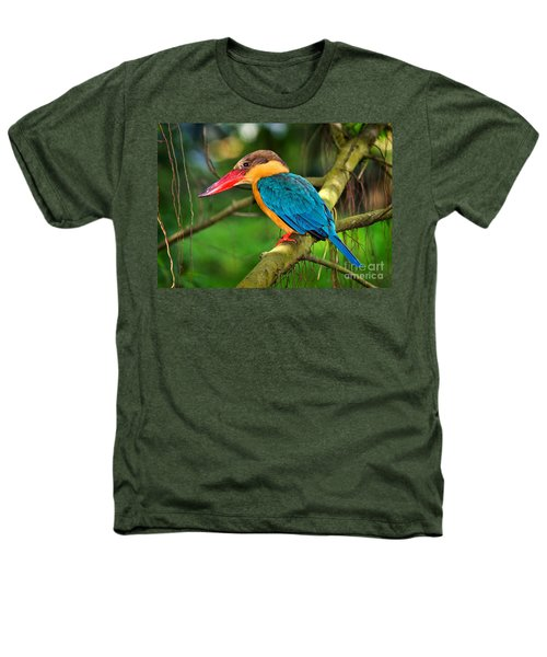 Stork-billed Kingfisher Heathers T-Shirt by Louise Heusinkveld