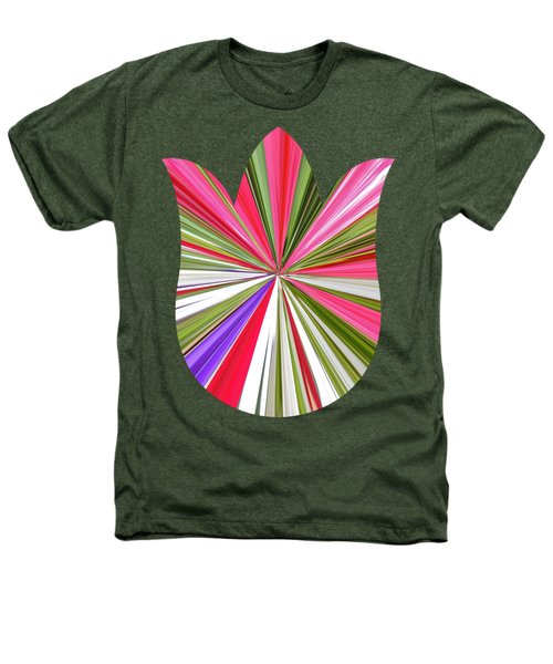 Striped Tulip Heathers T-Shirt by Marian Bell