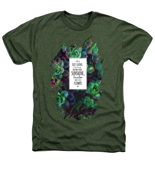 Sunshine, Freedom, Flower Heathers T-Shirt by Atelier Seneca
