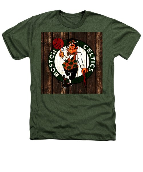 The Boston Celtics 2d Heathers T-Shirt by Brian Reaves