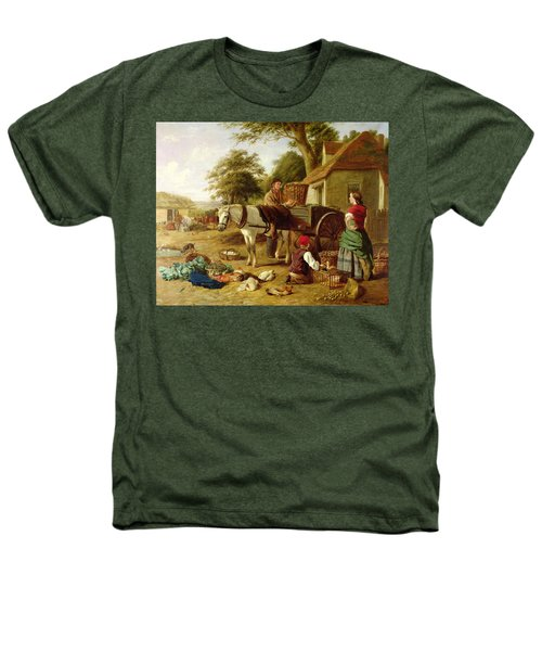 The Market Cart Heathers T-Shirt by Henry Charles Bryant