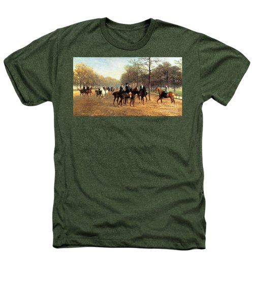 The Morning Ride Rotten Row Hyde Park Heathers T-Shirt by Heywood Hardy