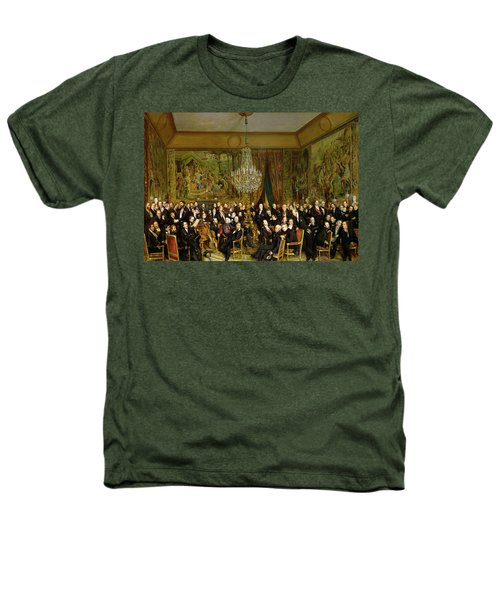 The Salon Of Alfred Emilien At The Louvre Heathers T-Shirt by Francois Auguste Biard