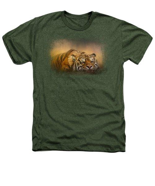 The Tiger Awakens Heathers T-Shirt by Jai Johnson