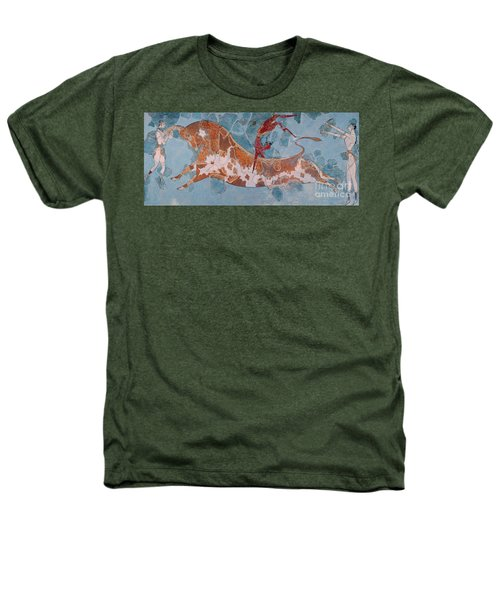 The Toreador Fresco, Knossos Palace, Crete Heathers T-Shirt