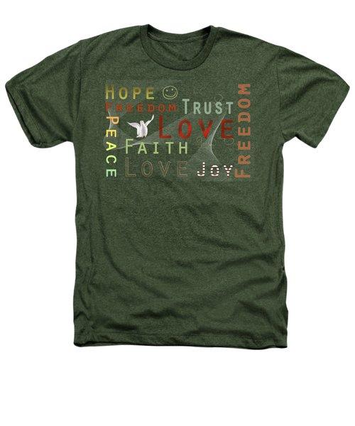 Think Positive Heathers T-Shirt by Jutta Maria Pusl