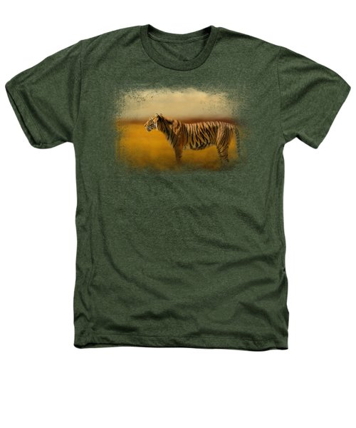 Tiger In The Golden Field Heathers T-Shirt by Jai Johnson