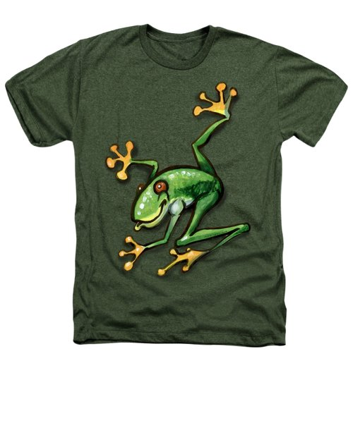 Tree Frog Heathers T-Shirt by Kevin Middleton