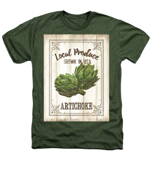 Vintage Fresh Vegetables 2 Heathers T-Shirt by Debbie DeWitt