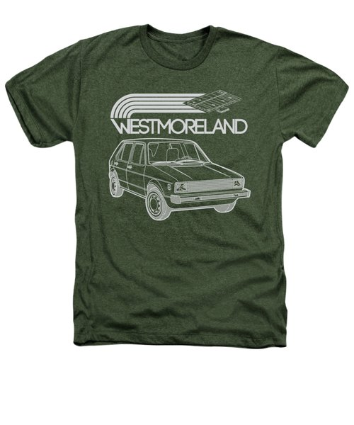 Vw Rabbit - Westmoreland Theme - Gray Heathers T-Shirt by Ed Jackson